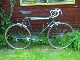 vintage retro ladies gent racing folding bike bicycle