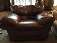 Brown leather armchair in excellent condition