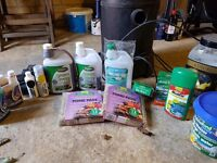 pond pump, filter, pond hoover and misc pond equipment/treatments