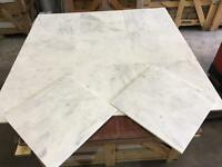 Carrara white marble tiles floor and wall marble tiles 457x457x12mm