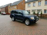 Diesel 7 seats Mitsubishi shogun field 3.2 2003 in year with low miles ,with tow bar ,px welcome