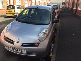 NISSAN MICRA 2003 SILVER AUTOMATIC 1.2 SILVER FOR QUICK SALE