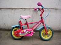 Kids Bike with Flowers, 8 inch wheels Are Great For 1 1/2 Years Olds, JUST SERVICED / CHEAP PRICE!!!