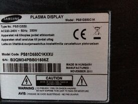 "Samsung 55""plasma tv"