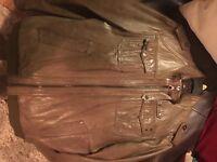 Mens River Island brown soft leather jacket, large £15