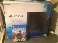 PlayStation 4 1TB console plus watch dogs 2 ( NO CONTROLLER )