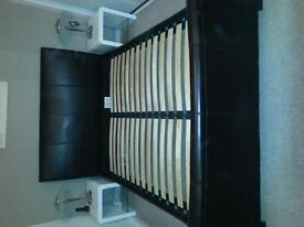 Kingsize real leather bed