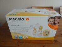 Medela Freestyle Double Electric Breastpump with Calma. From a pet free/smoke free home. RRP £329.99