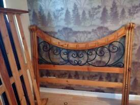 Metal and Wood Double bed no mattress
