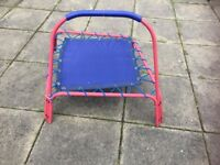 Red small trampoline