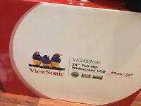 "Viewsonic 24"" full HD monitor brand new boxed rrp £140"