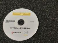 Vauxhall Opel CD70 sat nav update disc 2014/2015 simply plug and play