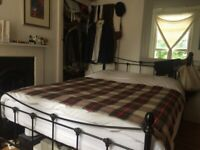 King Size Metal Bed Frame & Mattress (+Duvet, Sheets, and Mattress Protector Optional)