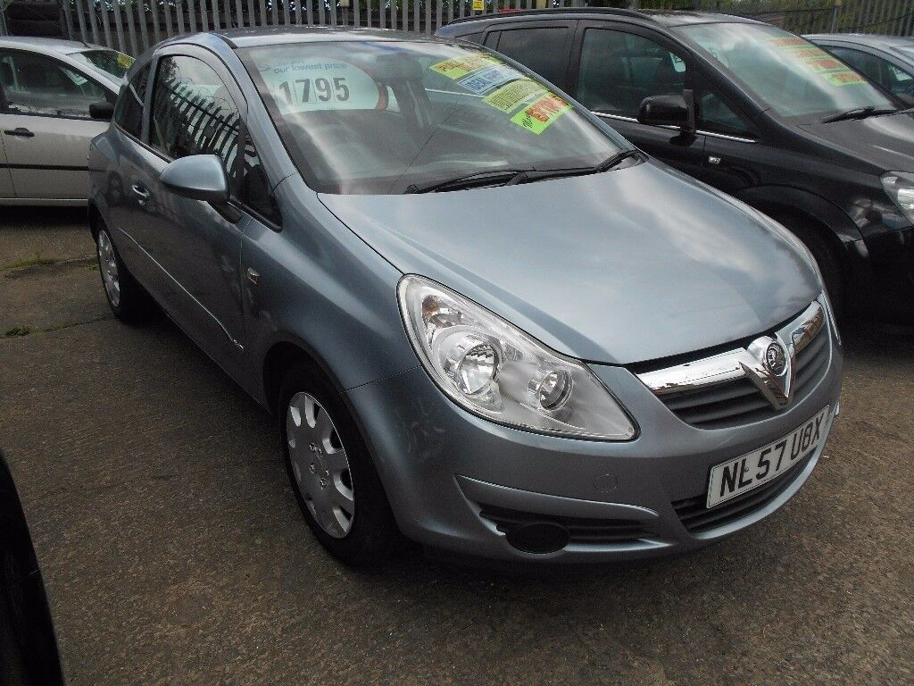 Vauxhall Corsa 1 2 Club Ac R 2007 Model Mot Oct 2018 One Former Keeper Keys Average Miles
