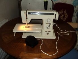 brother sewing machine with instructions book and bag/ carry