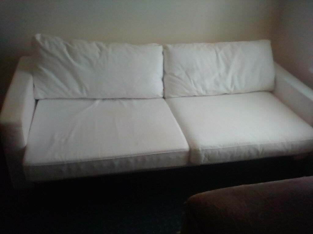 Ikea Large 2 Seater Settee Sofa And Armchair With 12 Matching Ter Cushions