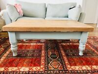 Shabby chic chunky coffee table £130 or nearest offer