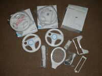 Wii Nintendo Racing Steering Wheels and Accessory Pack