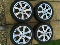 Alloys with nearly new wheels 4x108