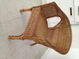 Light Wicker chair -excellent condition- very comfortable- indoor or outdoor use