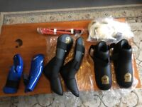 Mixed lot of adult martial art protective gear Muay Thai karate