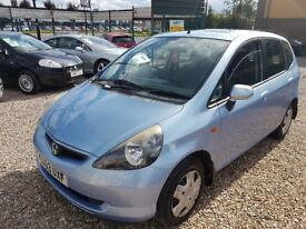 2003 Honda Jazz 1.3 LONG MOT Drives Like NEW!! Huge folder of history in good condition reliable car