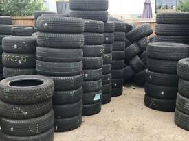 In stock partworn tyres and brand new tires, good quality part worn, various sizes available
