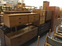 Vintage Retro Antique Furniture - Sideboards, Chest of Drawers, Dining Tables, Bookshelves