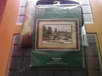 New counted cross stitch kit by the craft collection.Kit is a picture of Matlock.