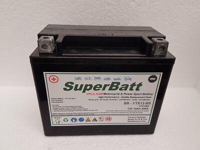 SUPERBATT YTX12 BS HIGH POWER BATTERY TRIUMPH BONNEVILLE T100 01 06