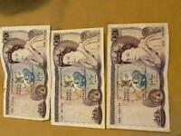 Old banknotes 20£ & 10£