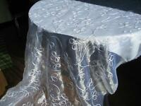 "Shimmery bridal fabric-""white on white"""