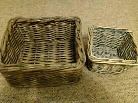 Storage wicker basket set
