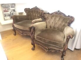 Queen arm chairs x2