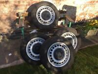 "VW T5 16"" Steel wheels with Hankook tyres"