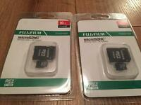Fujifilm Micro sd cards with adapter 16gb new sealed