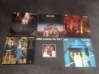 """6 ABBA 12"""" vinyl LP's"""