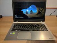 Gaming Laptop Toshiba P50: i7-6500U, NVIDIA 930 2GB, 8GB RAM, 1TB HDD, 8GB SSD, Windows 10