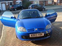 Cool Blue MG TF Convertible for Sale - Price Reduction