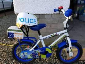 Kids police bike & Kiddimoto helmet