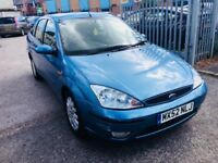 FORD FOCUS AUTOMATIC PETROL 1.6 GHIA LEATHER SEATS 4 DOORS SALOON LOW MILEAGE 70000 MILES