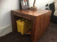 Sheesham Wood cube coffee table