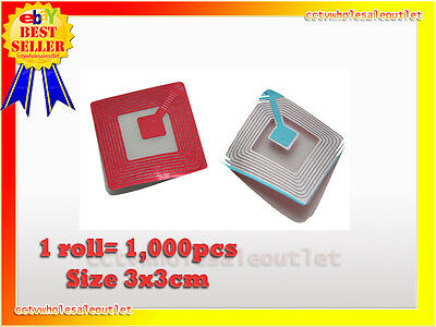 20000 Pcs Checkpoint Compatible 3x3 Clear Soft Label Case 8.2mhz Fake Barcode