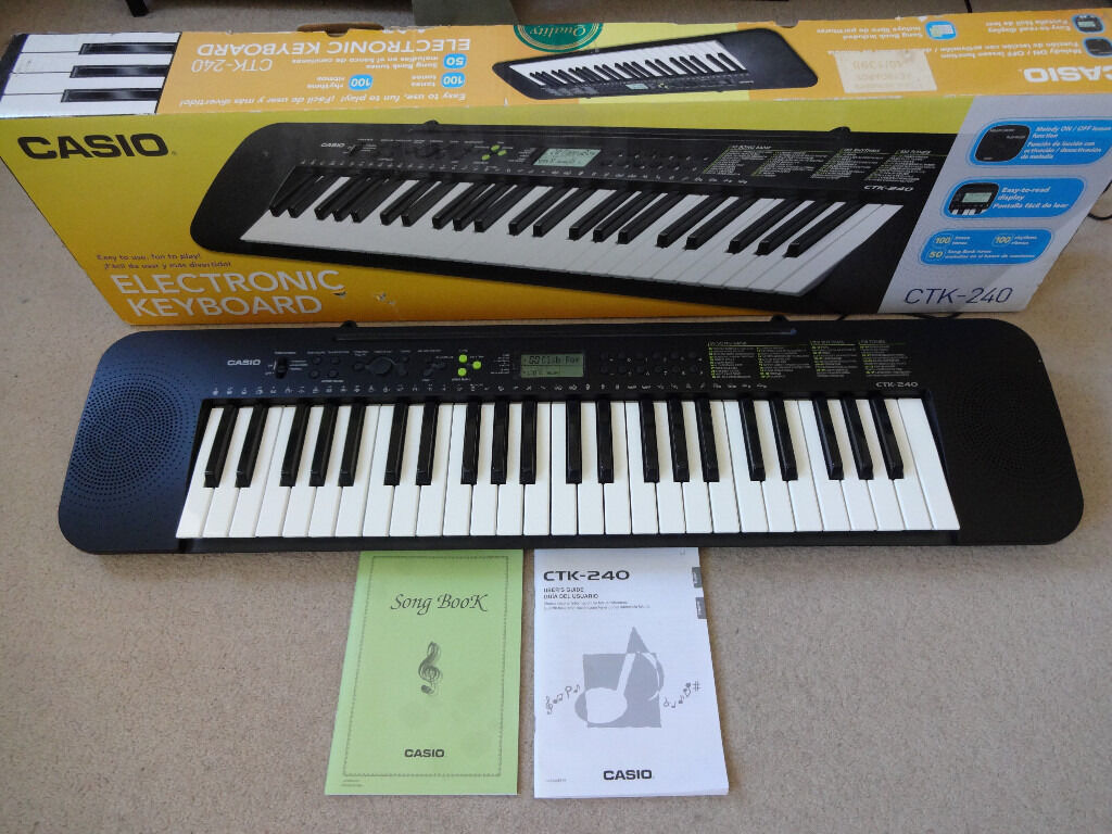casio ctk 240 electronic keyboard piano boxed with manual in southsea hampshire gumtree. Black Bedroom Furniture Sets. Home Design Ideas