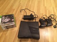 Xbox 360 250GB, 3 Controllers, 10 Games