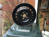 "Vw steel rims 15"" used as spares for winter tyres there are two of these rims, genuine vw"