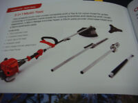 MULTI TOOL MOUNTFIELD 5 IN 1 STRIMMER,HEDGE CUTTER, PRUNER EXT POLE, METAL BLADE POWERFUL 25CC