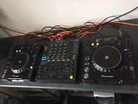 Full Pioneer CDJ Set Up - 2 x CDJ 1000 Mk3s and Pioneer DJM 800