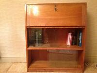 Solid Oak Bureau with writing desk