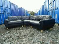 Black Corner Sofa *Delivery Available*
